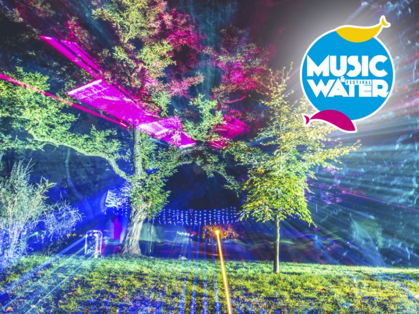 """Music & Water Festival"" – plakat (źródło: materiały prasowe organizatora)"