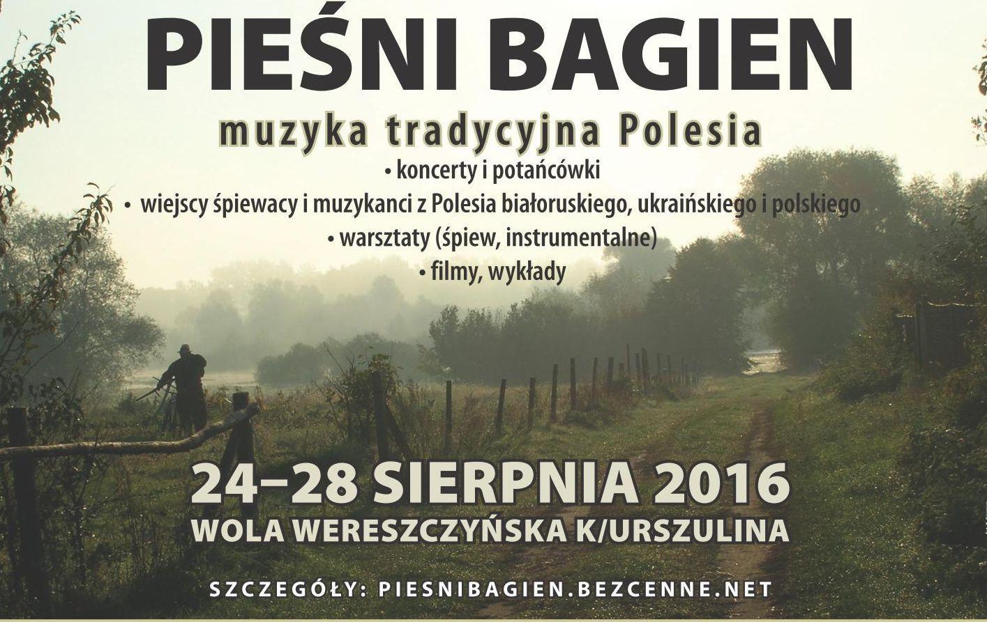 """""""Pieśni bagien. Muzyka tradycyjna Polesia"""" – plakat (źródło: materiały prasowe organizatora)"""