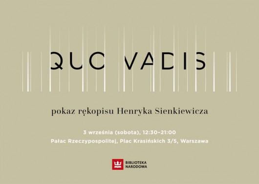 Pokaz rękopisu Quo Vadis (źródło: mat. pras. organizatora)