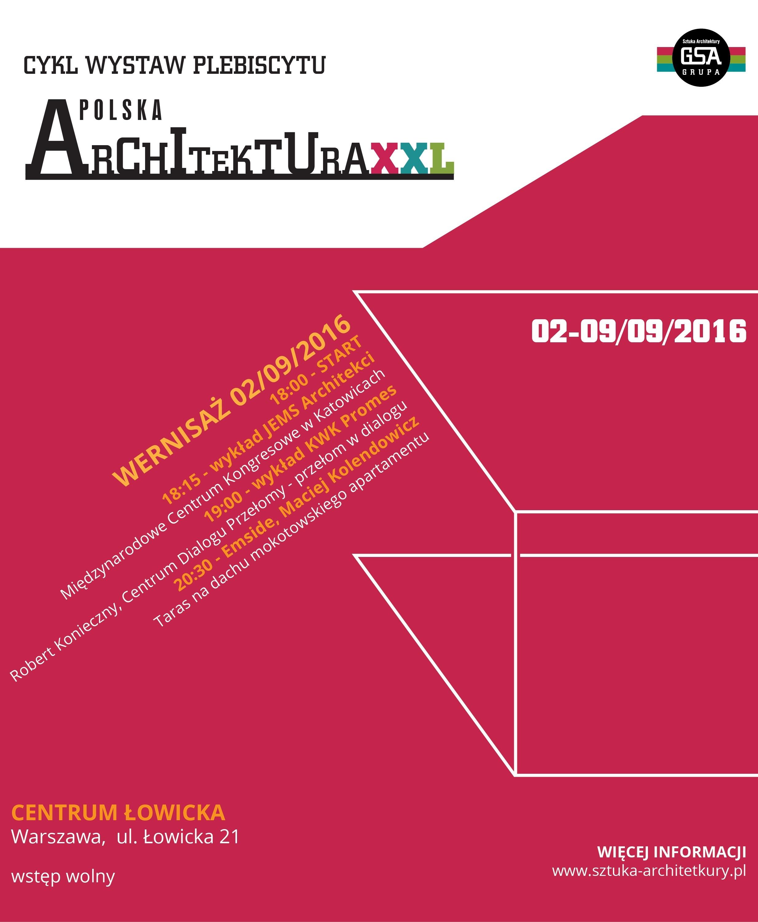 """""""Polska Architektura 2015"""" (źródło: materiały prasowe organizatora)"""