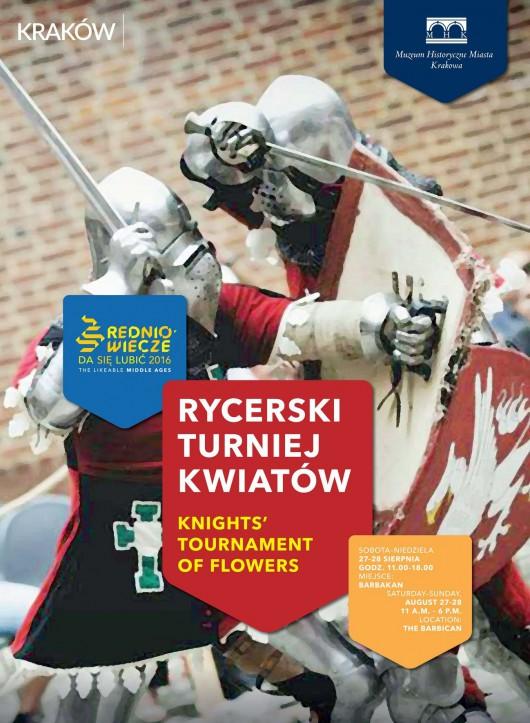 """""""Rycerski Turniej Kwiatów"""" – plakat (źródło: materiały prasowe organizatora)"""