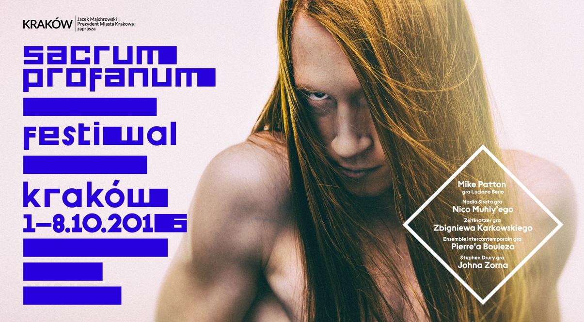 """""""Sacrum Profanum 2016"""" – plakat (źródło: materiały prasowe organizatora)"""