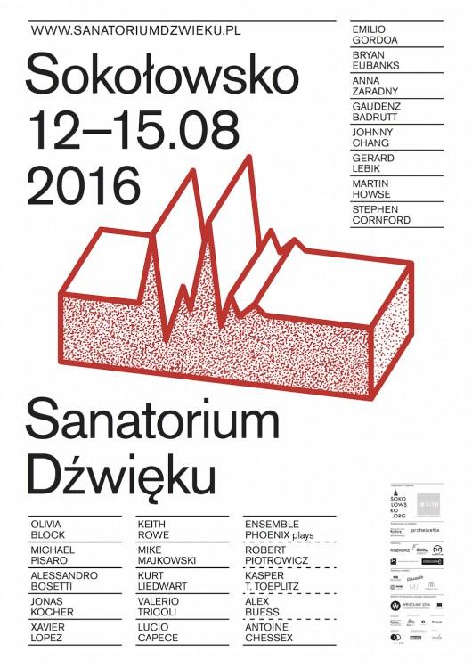 """Sanatorium dźwięku"" – plakat (źródło: materiały prasowe organizatora)"