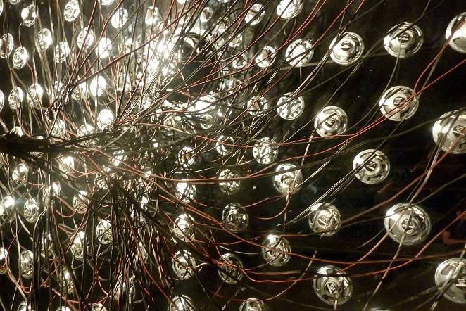 """Anna Zaradny, """"Najsłodszy dźwięk krążącego firmamentu"""", 2011, instalacja dźwiękowa, fot. Anna Zaradny (źródło: materiały prasowe organizatora)"""