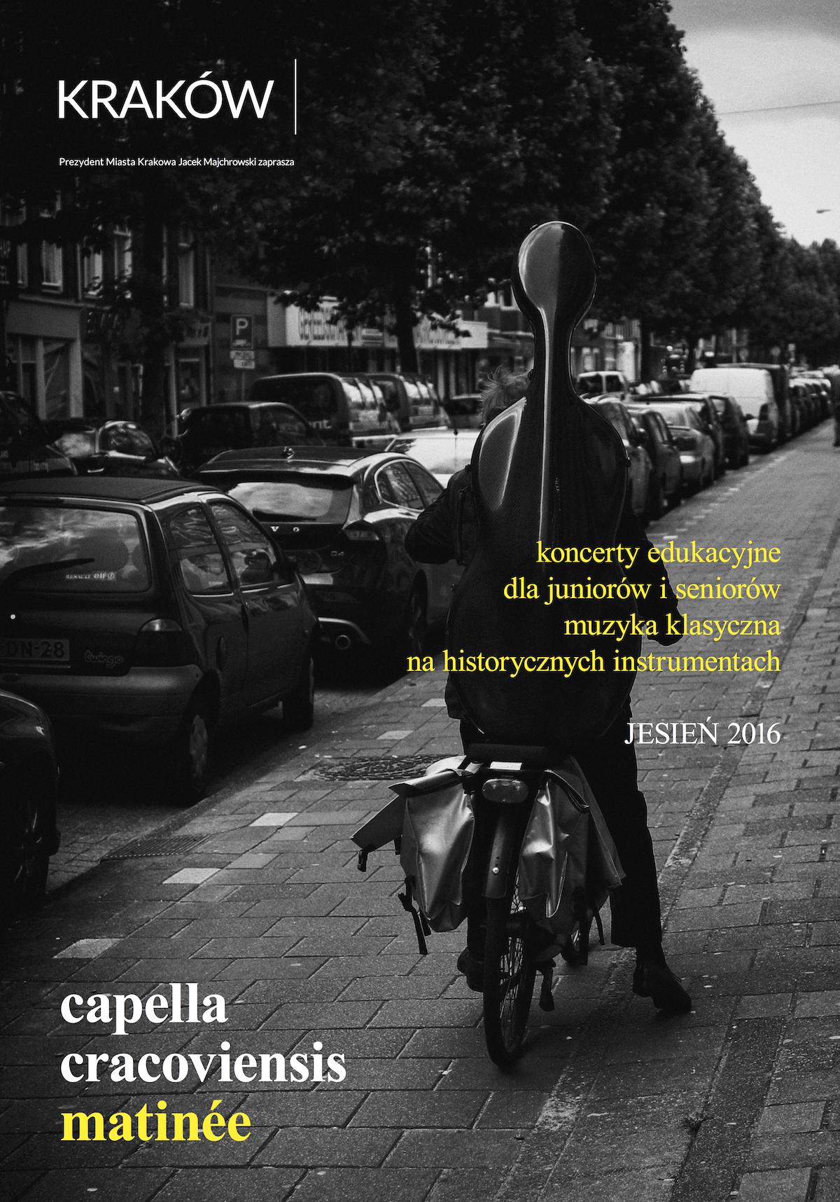 Capella Cracoviensis matinée – plakat (źródło: materiały prasowe organizatora)