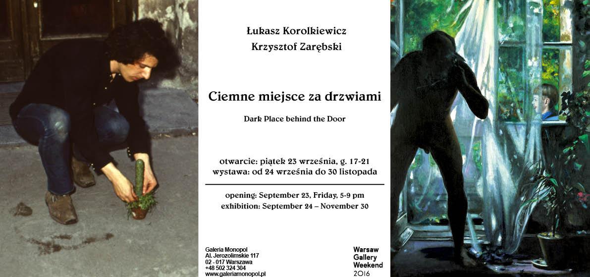 """Łukasz Korolkiewicz i Krzysztof Zarębski, """"Ciemne miejsce za drzwiami"""" (źródło: materiały prasowe organizatora)"""
