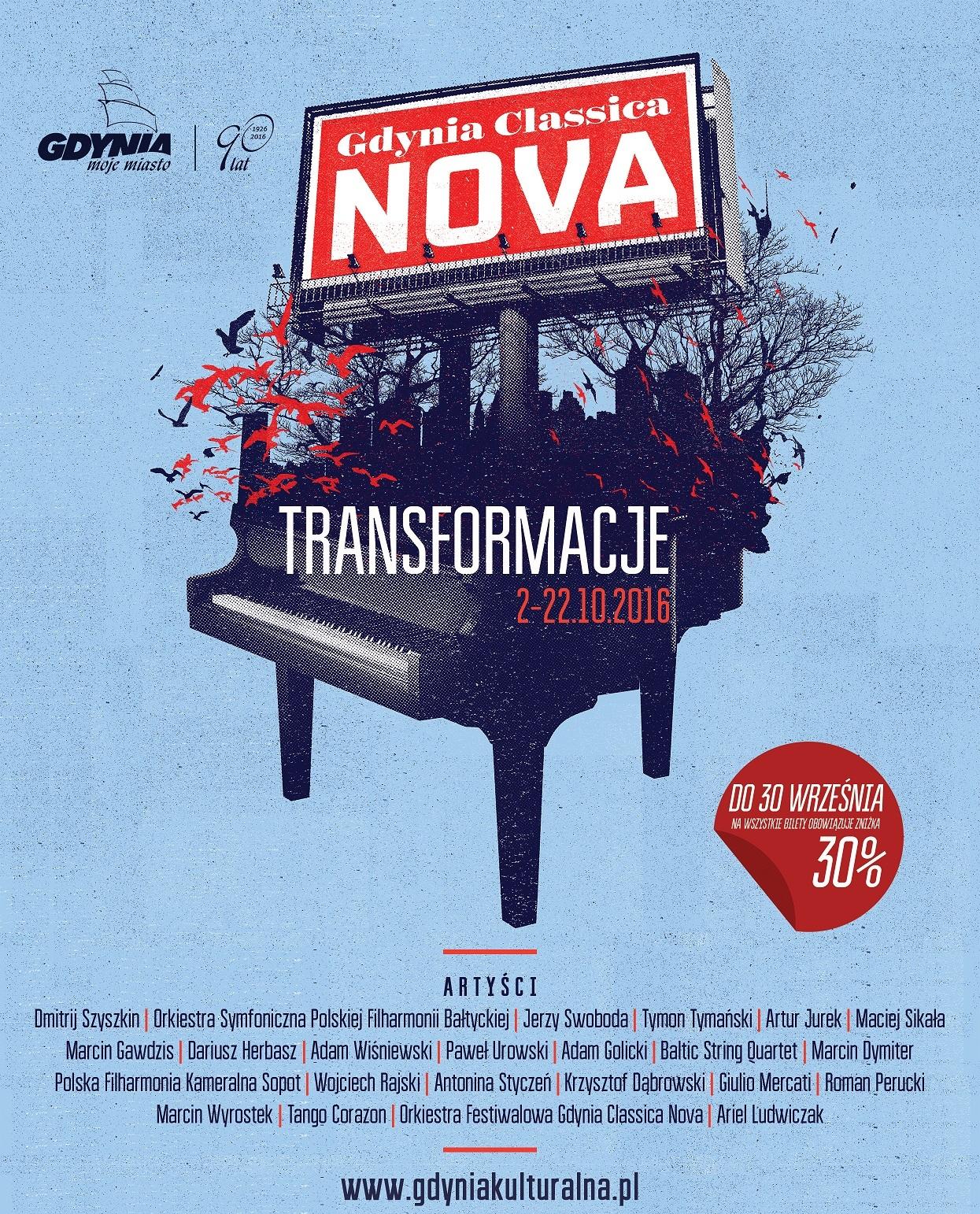"""""""Festiwal Gdynia Classica Nova"""" – plakat (źródło: materiały prasowe organizatora)"""