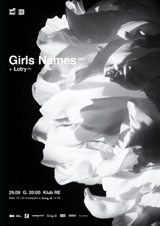 """""""Koncert Girls Names i Łotrów"""" – plakat (źródło: materiały prasowe organizatora)"""