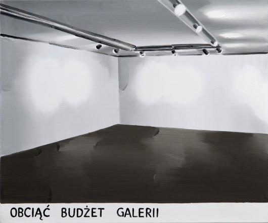 """Marcin Maciejowski, """"Obciąć budżet galerii"""" (źródło: materiały prasowe organizatora)"""
