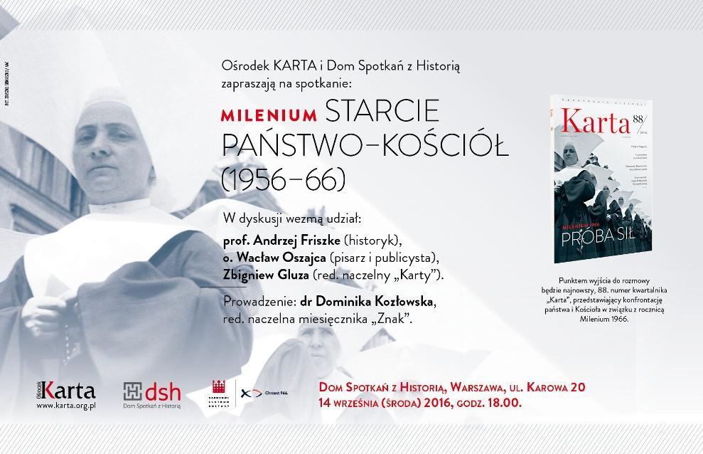 """""""Milenium: starcie państwo–Kościół"""" (źródło: mat. pras. organizatora)"""
