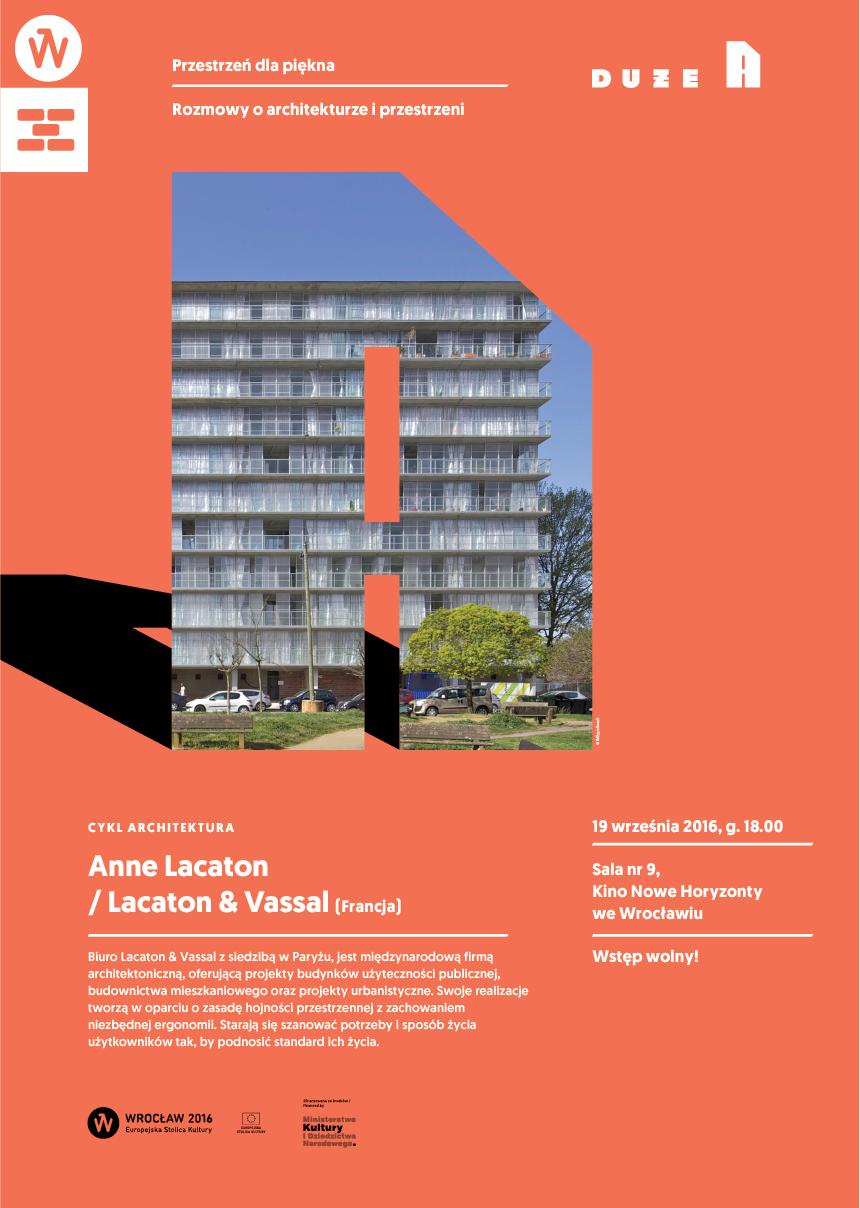 """Anne Lacaton, """"Przestrzenie (nie)piękna"""" (źródło: materiały prasowe organizatora)"""