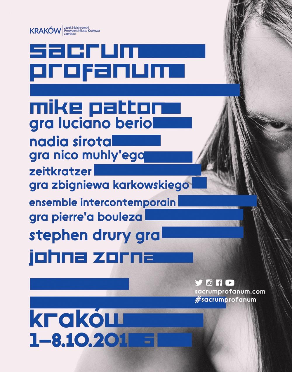 Sacrum Profanum 2016 – plakat (źródło: materiały prasowe organizatora)
