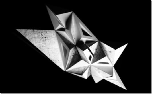 """Seikon, """"Video mapping rzeźby"""", 2012 (źródło: materiały prasowe organizatora)"""