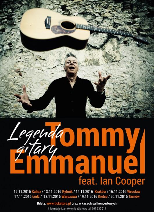 Tommy Emmanuel. Trasa koncertowa – plakat (źródło: materiały prasowe organizatora)