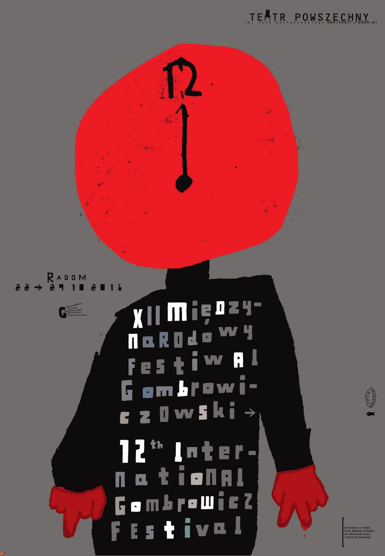 """""""12. Międzynarodowy Festiwal Gombrowiczowski"""" – plakat (źródło: materiały prasowe organizatora)"""