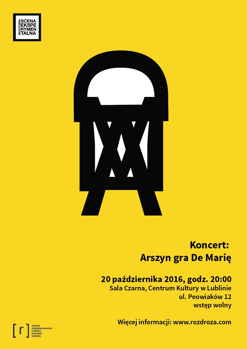 """""""Arszyn gra De Marię"""" – plakat (źródło: materiały prasowe organizatora)"""