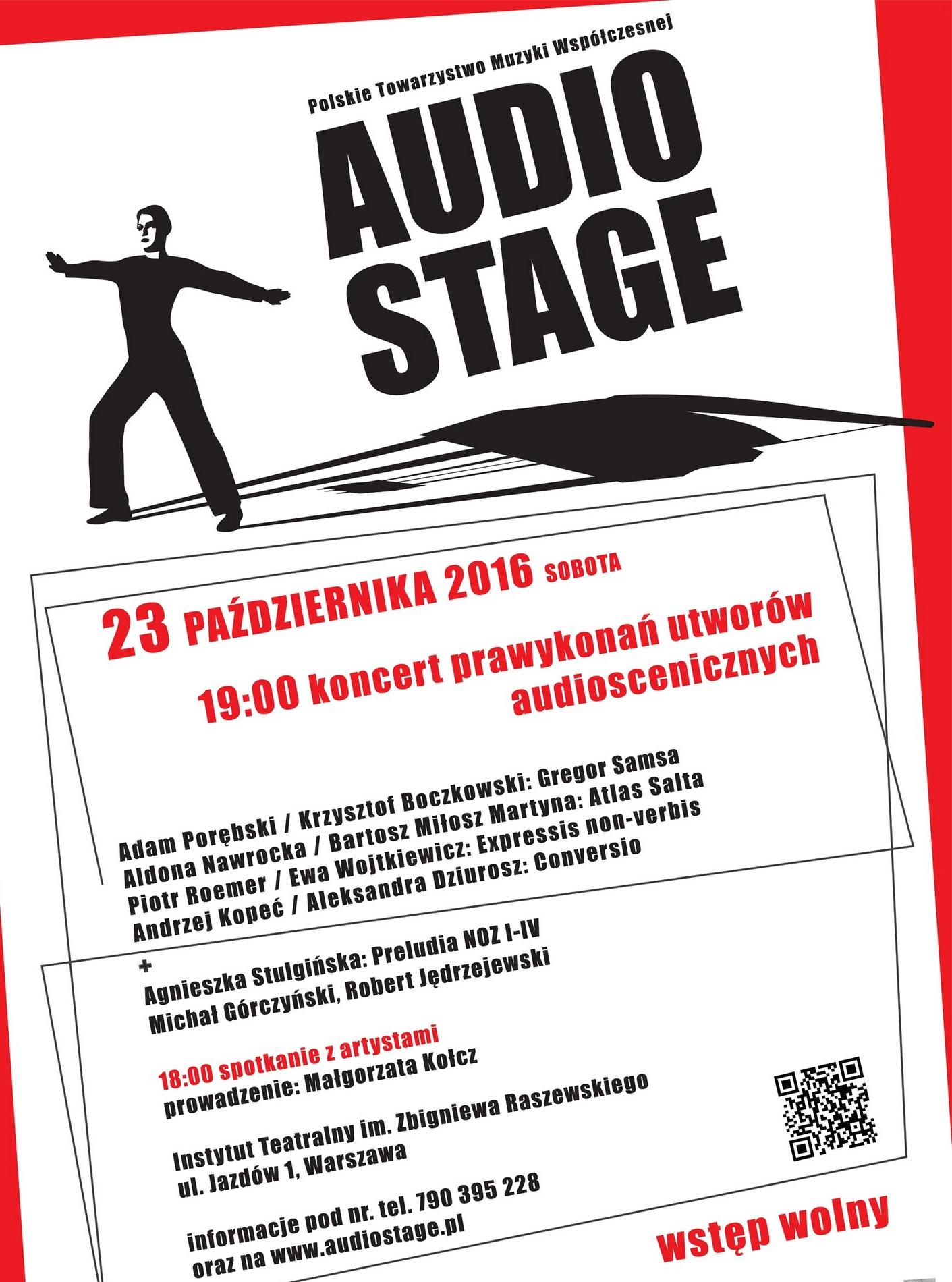 """Audio Stage 2016"" – plakat (źródło: materiały prasowe organizatora)"