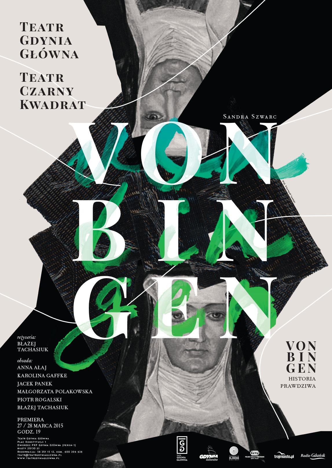 """""""Von Bingen. Historia prawdziwa"""" – plakat (źródło: materiały prasowe organizatora)"""