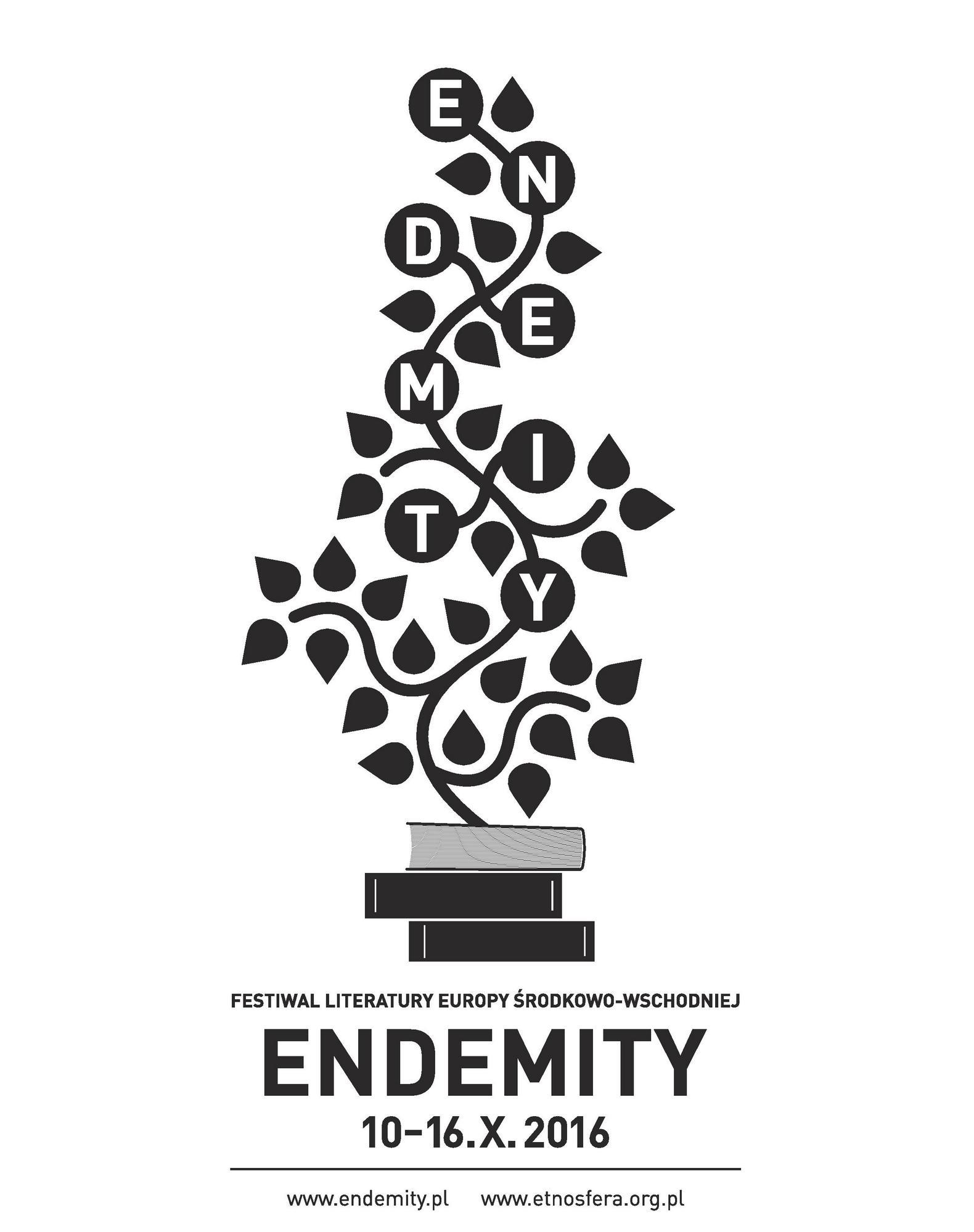 Festiwal Literatury Europy Środkowo-Wschodniej Endemity, plakat (źródło: materiały prasowe organizatora)