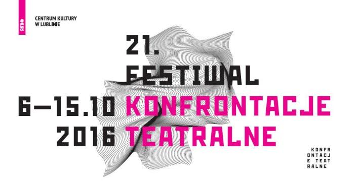 """""""21. Festiwal Konfrontacje Teatralne"""" – plakat (źródło: materiały prasowe organizatora)"""