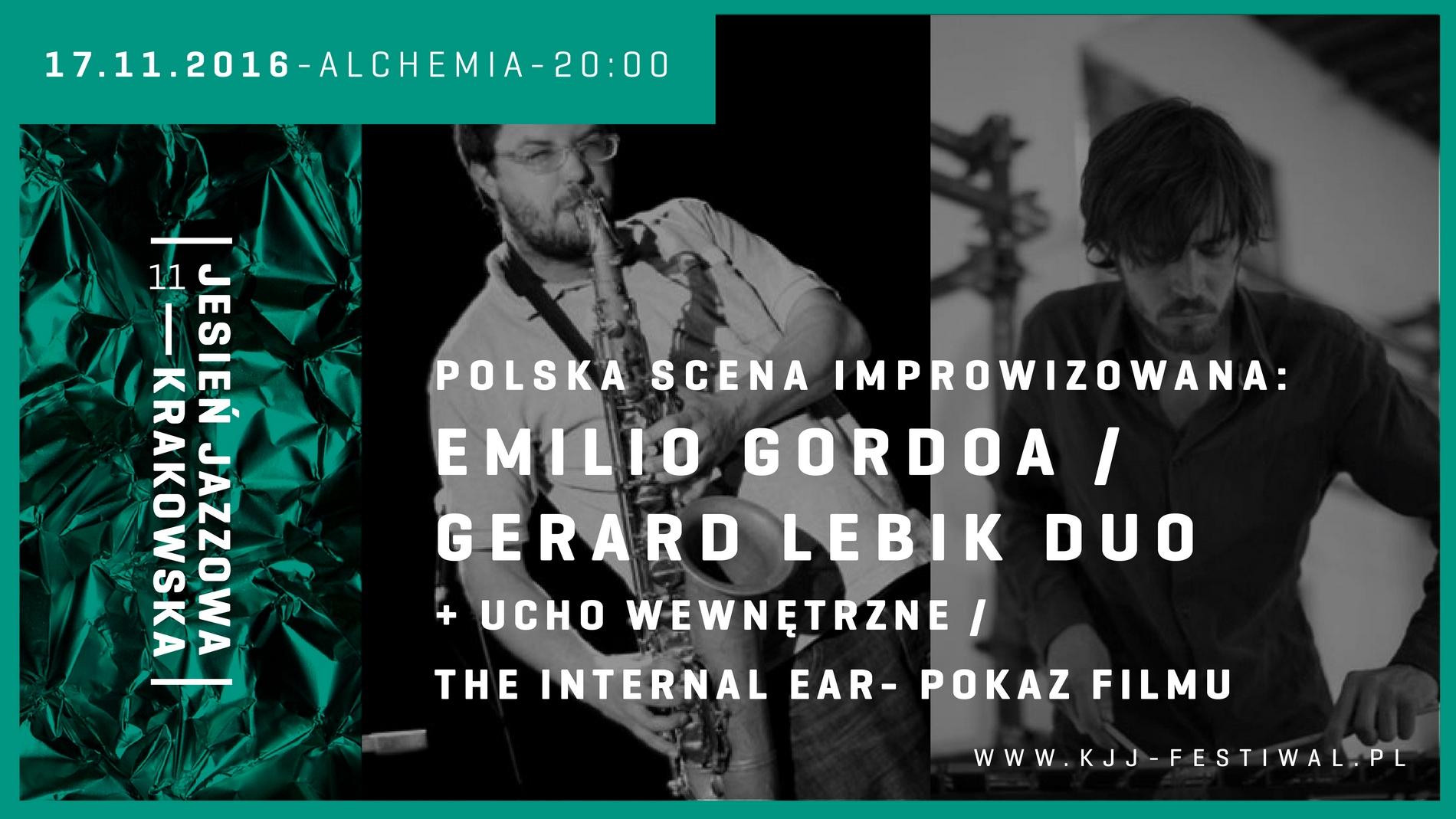 Gerard Lebik / Emilio Gordoa Duo (źródło: materiały prasowe organizatora)