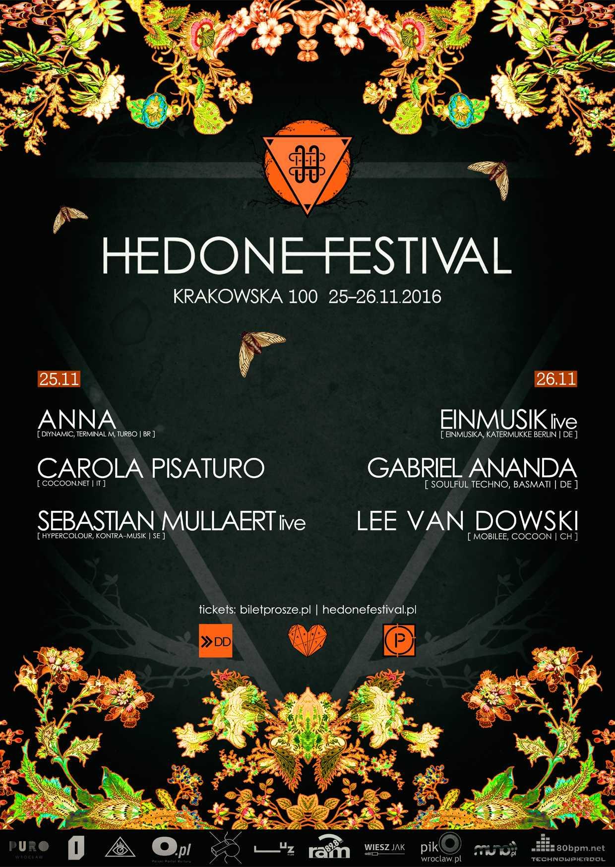 """""""Hedone Festival 2016"""" – plakat (źródło: materiały prasowe organizatora)"""