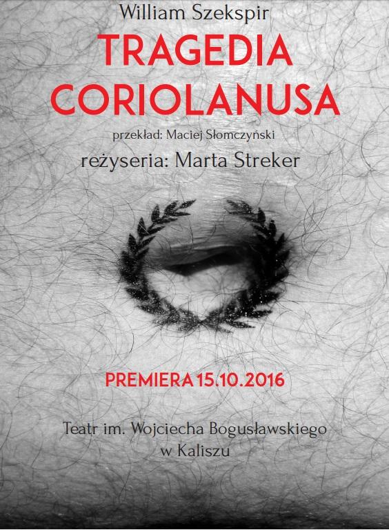 """Tragedia Corionalusa"" – plakat (źródło: materiały prasowe organizatora)"