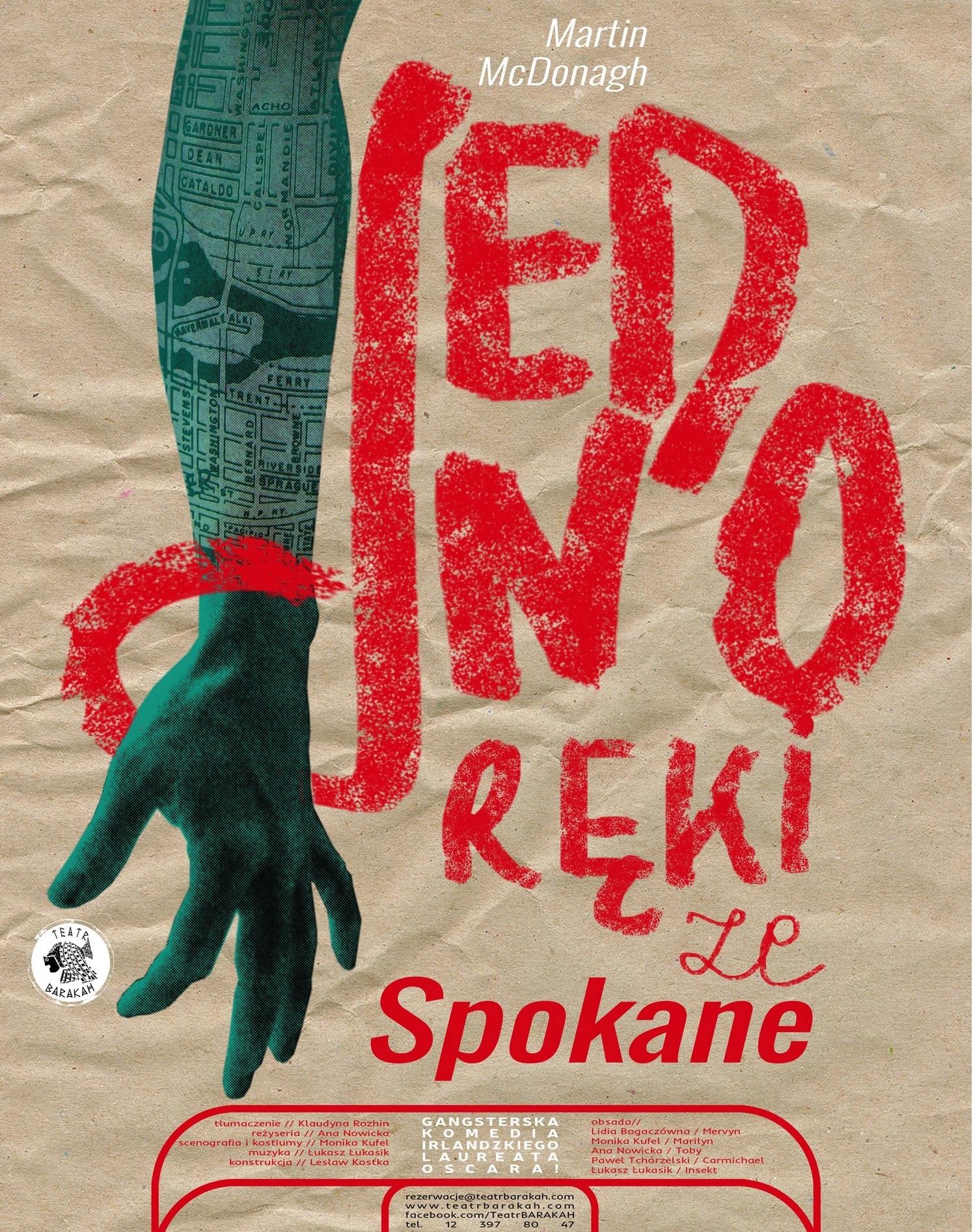 """""""Jednoręki ze Spokane"""" – plakat (źródło: materiały prasowe organizatora)"""