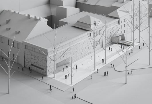 Wizualizacja projektu autorstwa Roberta Koniecznego (KWK PROMES). Widok z lotu ptaka (źródło: materiały prasowe organizatora)