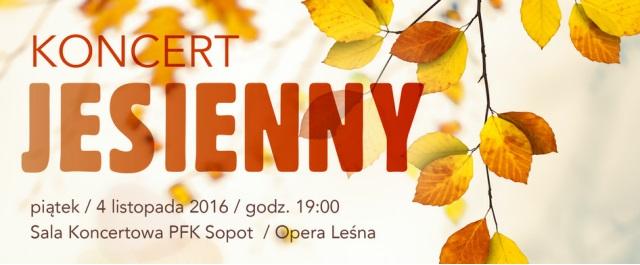 """""""Koncert Jesienny"""" – plakat (źródło: materiały prasowe organizatora)"""