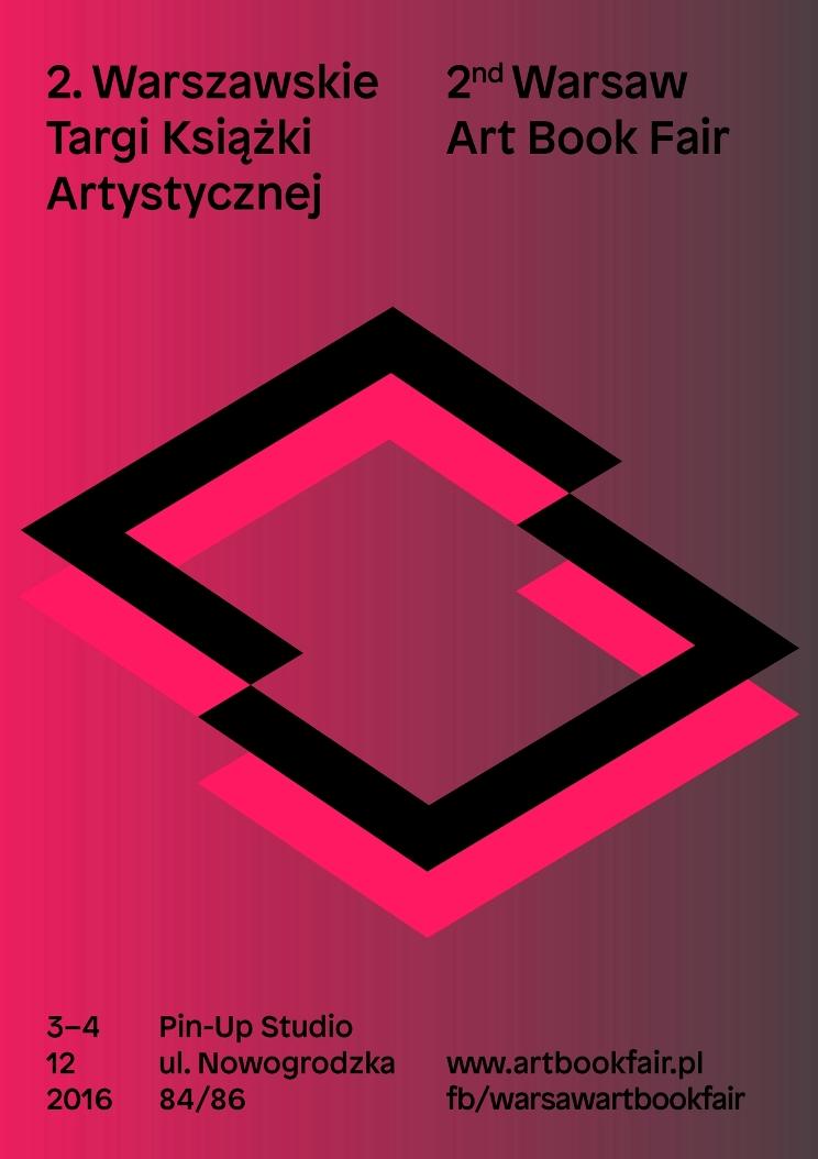 2. Warszawskie Targi Książki Artystycznej, plakat (źródło: materiały prasowe organizatora)