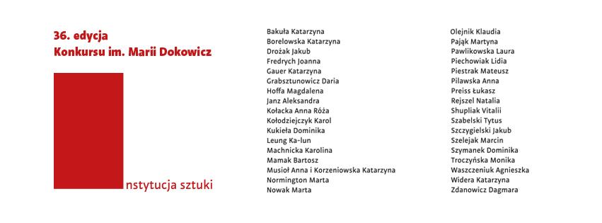 """""""36. Konkurs im. Marii Dokowicz"""" (źródło: materiały prasowe organizatora)"""