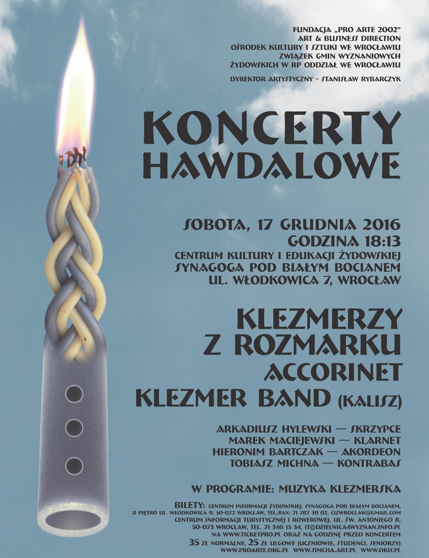"""""""Klezmerzy z Rozmarku"""" – plakat (źródło: materiały prasowe organizatora)"""