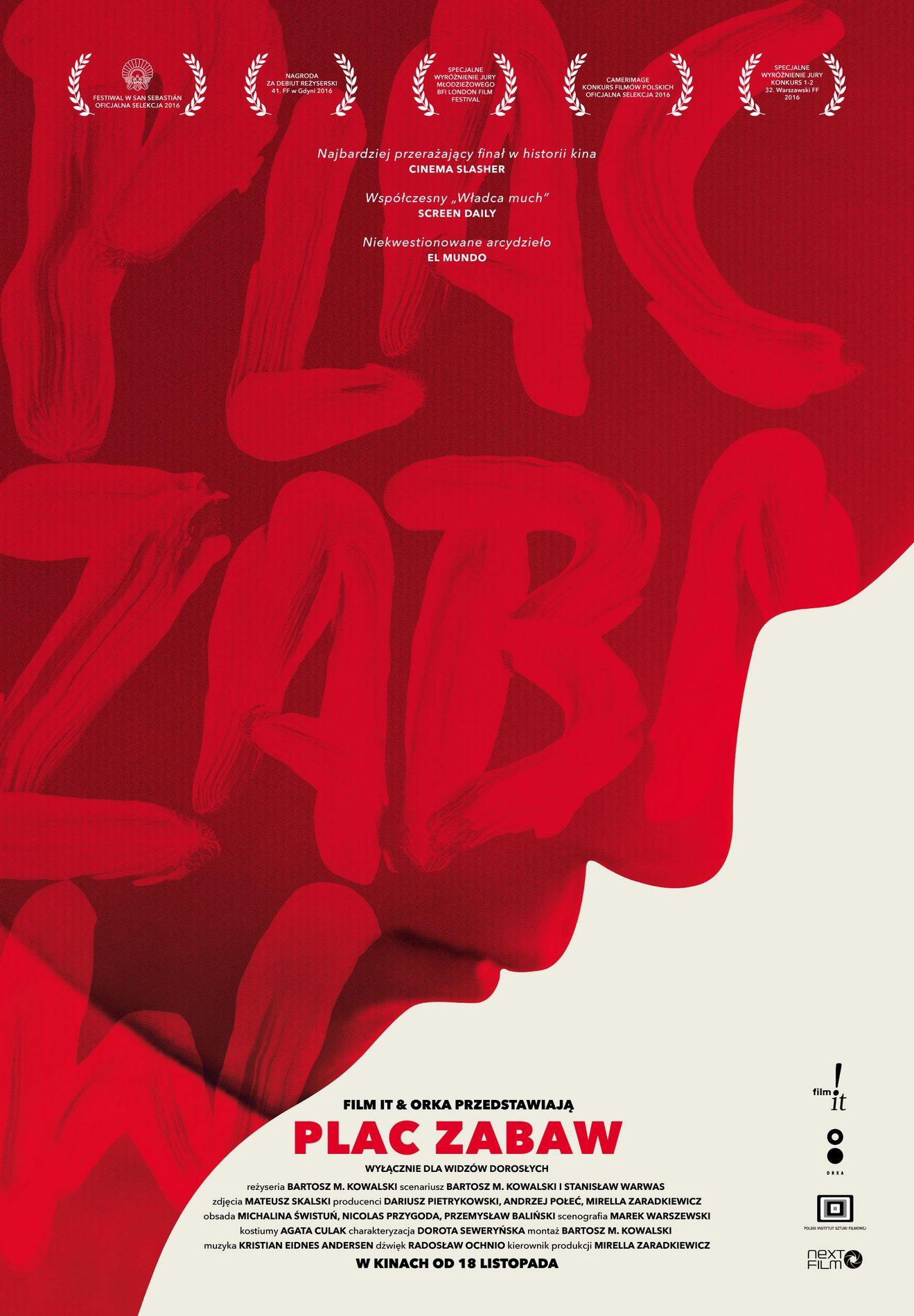 """Bartosz M. Kowalski, """"Plac zabaw"""" – plakat (źródło: materiały prasowe dystrybutora)"""