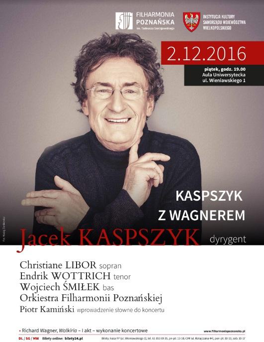"""""""Jacek Kaspszyk"""" – plakat (źródło: materiały prasowe organizatora)"""