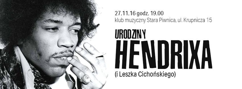 """""""Urodziny Hendrixa"""" – plakat (źródło: materiały prasowe organizatora)"""