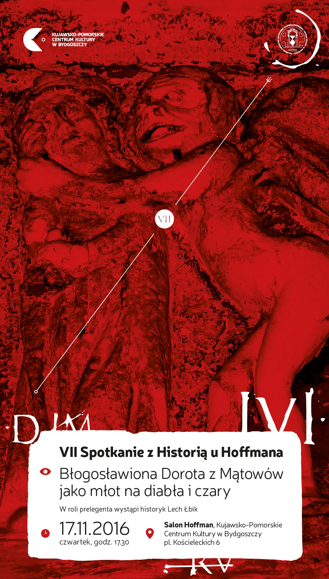 """""""Błogosławiona Dorota z Mątowów jako młot na diabła i czary"""" – plakat (źródło: materiały prasowe organizatora)"""