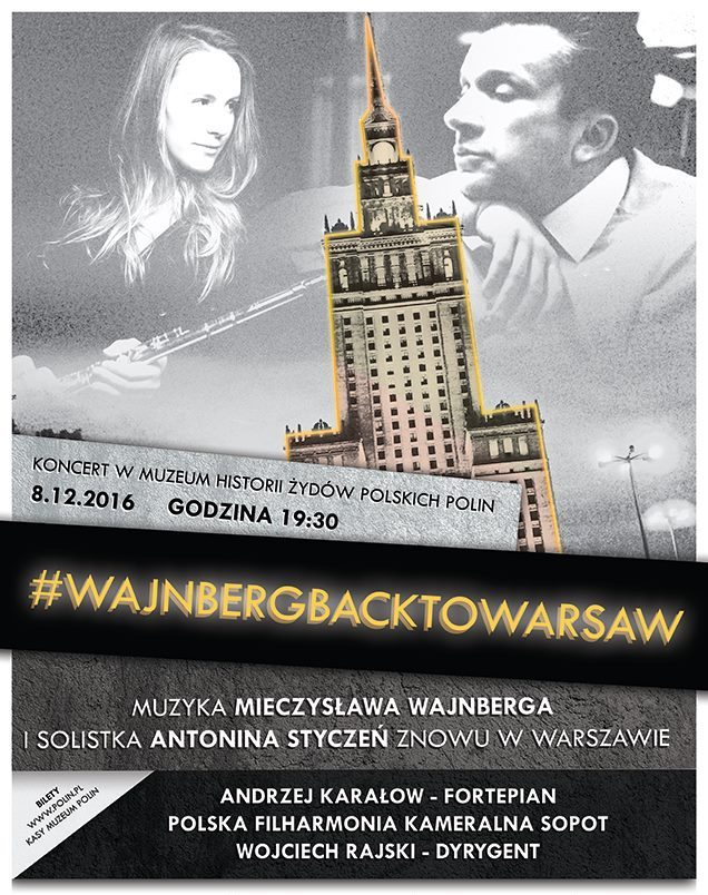 """""""#WajnbergBackToWarsaw"""" – plakat (źródło: materiały prasowe organizatora)"""