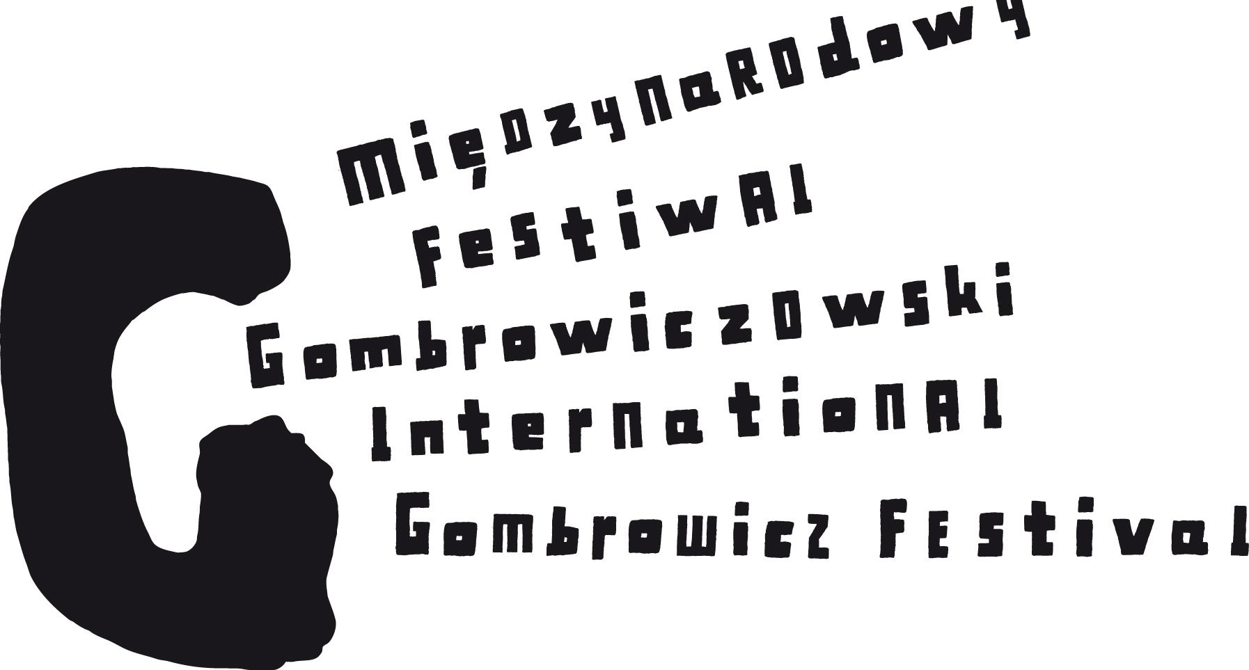 """""""XII Międzynarodowy Festiwal Gombrowiczowski"""" – logo (źródło: materiały prasowe organizatora)"""