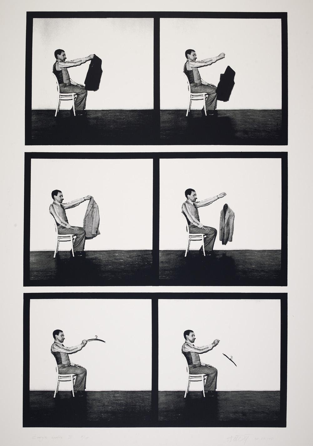 """Andrzej Lachowicz, """"Energia upadku"""", 1981 (źródło: materiały prasowe organizatora)"""