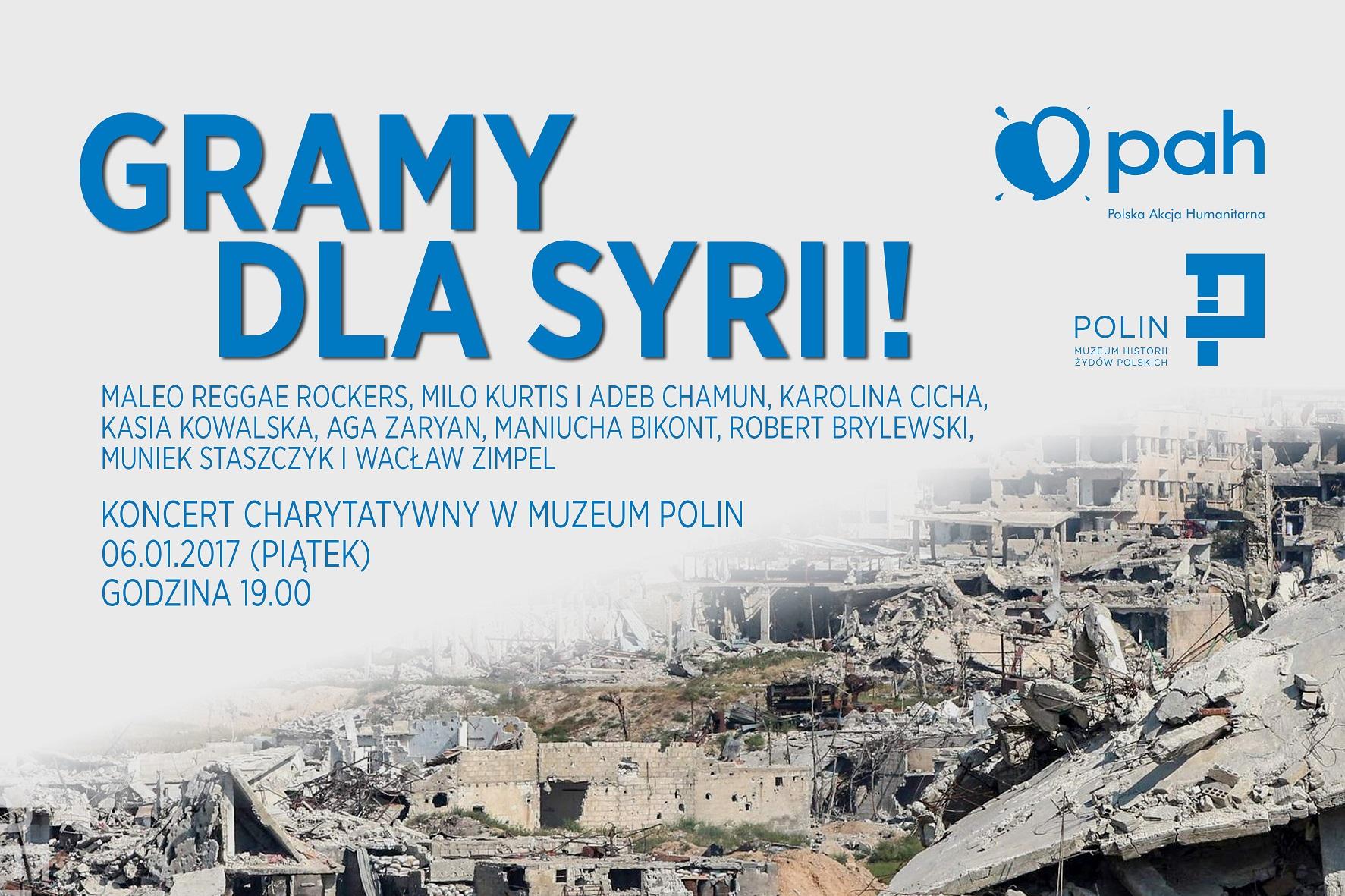 Gramy dla Syrii (źródło: materiały prasowe organizatora)