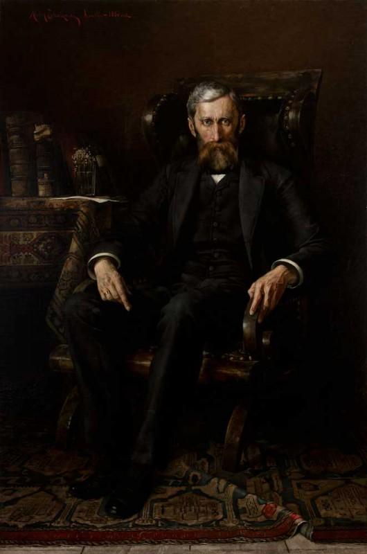 """Aleksy Strażyński (1859-1902), """"Portret Adama Asnyka"""", Kraków, 1886 (źródło: materiały prasowe organizatora)"""