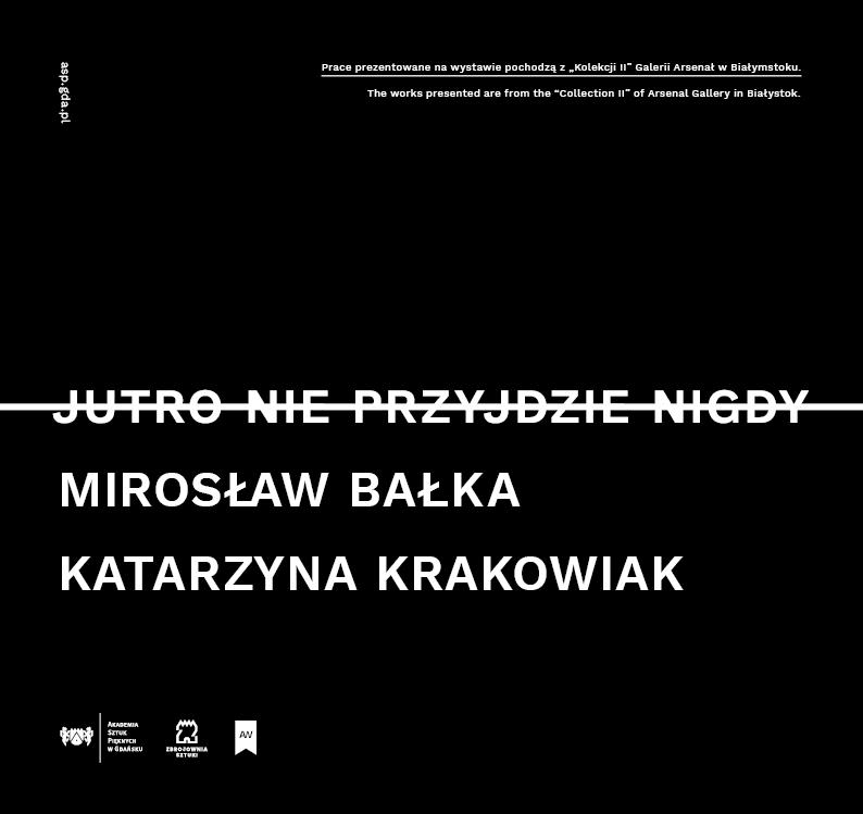 """Mirosław Bałka i Katarzyna Krakowiak, """"Jutro nie przyjdzie nigdy"""" (źródło: materiały prasowe organizatora)"""