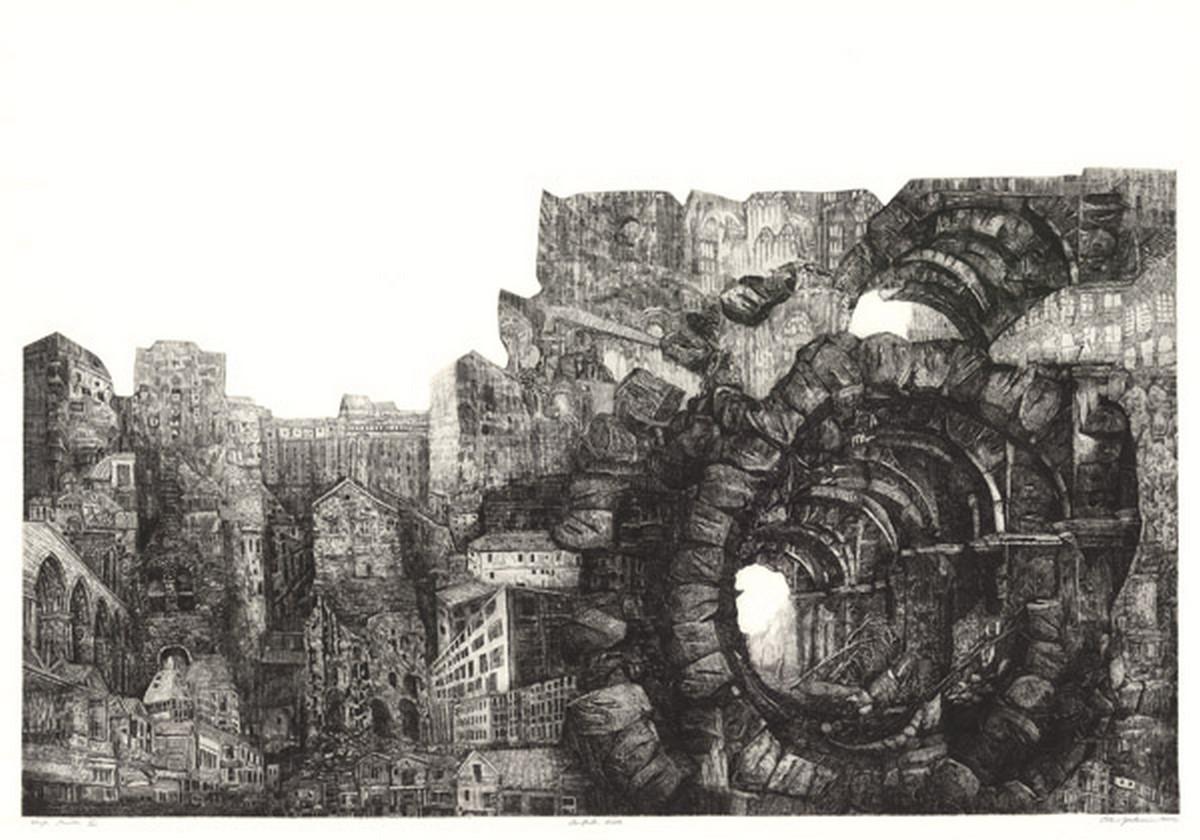 """Oskar Gorzkiewicz, """"Wizja miasta III"""" (źródło: materiały prasowe organizatora)"""