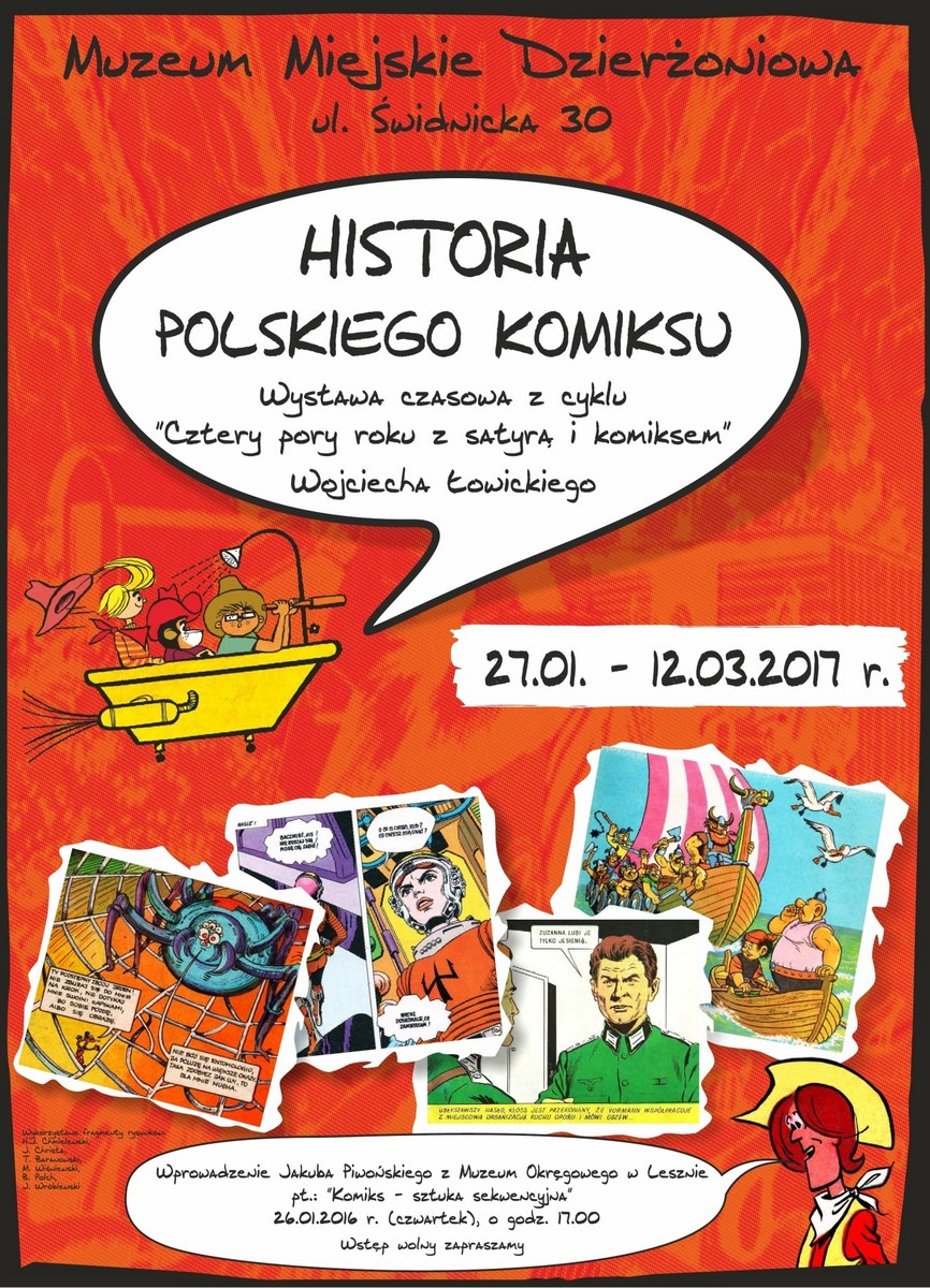 """""""Historia polskiego komiksu"""" (źródło: materiały prasowe organizatora)"""