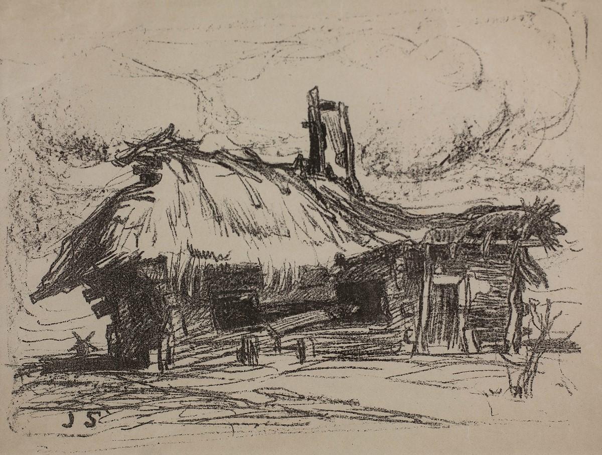 """Jan Stanisławski, """"Wiejska chata"""", 1899 (źródło: materiały prasowe organizatora)"""