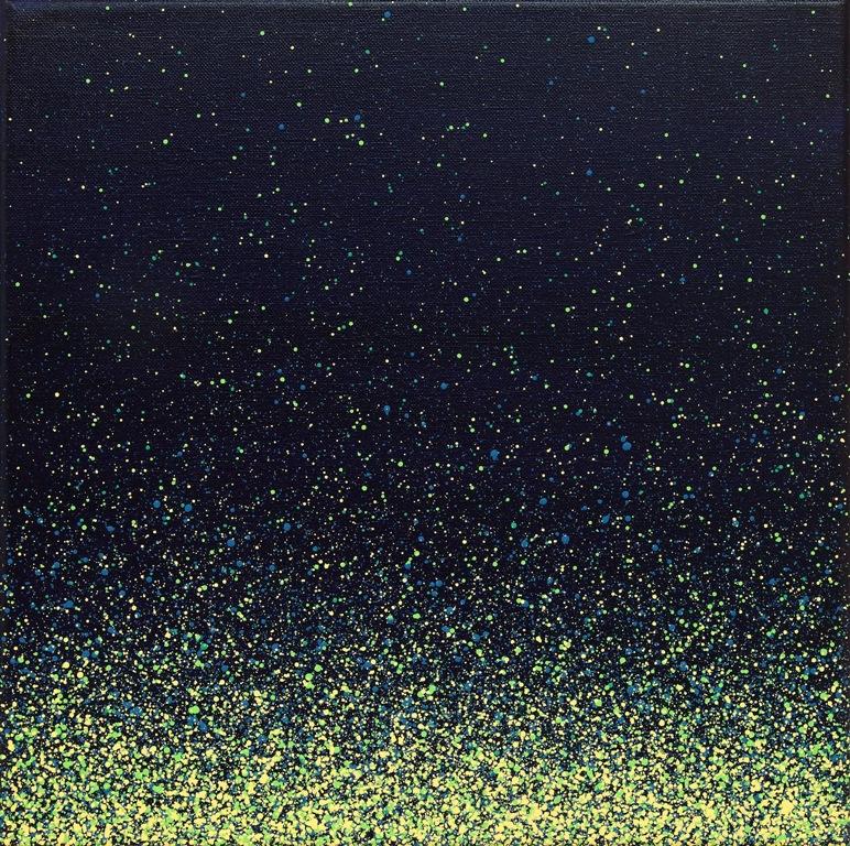 Joanna Borkowska, ZEN 05, Oil and Acrylic on Canvas, 35x35cm (źródło: materiały prasowe organizatora)