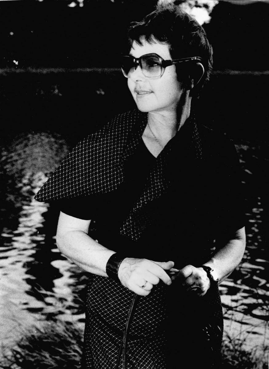 Wanda Gołkowska nad Odrą, lata 70 XX., z archiwum Jana Chwałczyka (źródło: materiały prasowe organizatora)