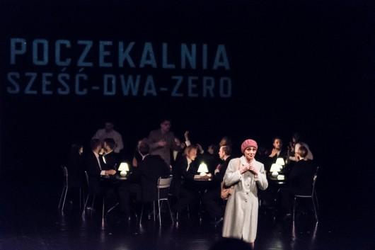 """Marta Guśniowska, nagroda w postaci realizacji scenicznej za """"Poczekalnię sześć-dwa-zero"""" (reż. Marek Fiedor, koprodukcja WTW i PWST Wrocław). Fot. BTW photographers Maziarz Rajter (źródło: materiały prasowe organizatora)"""