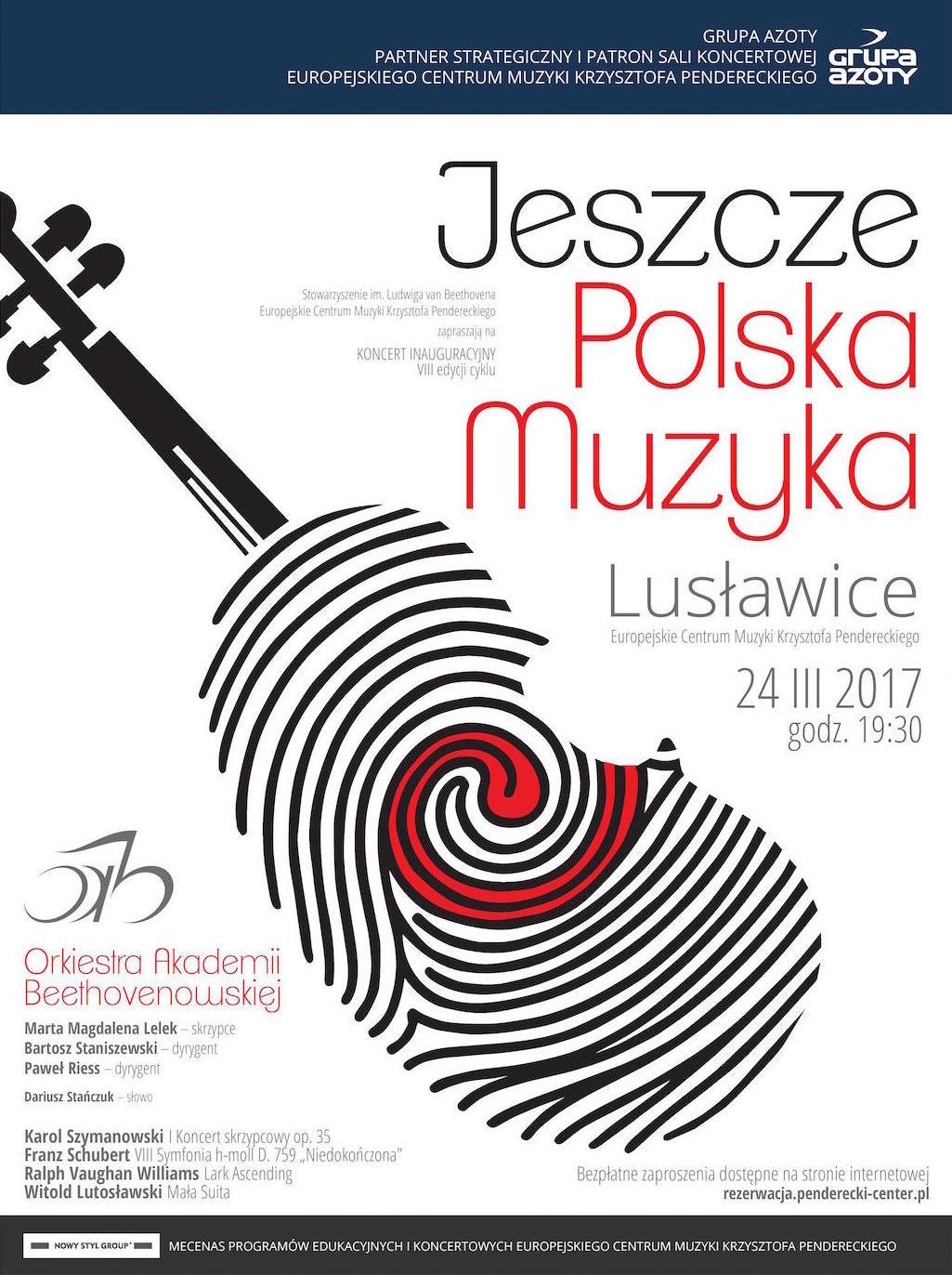 """Orkiestra Akademii Beethovenowskiej, Inauguracja 8. edycji cyklu """"Jeszcze polska muzyka..."""" – plakat (źródło: materiały prasowe organizatora)"""